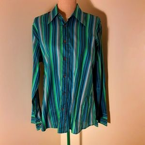 Hugo Boss ocean colors button up large